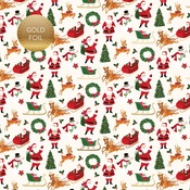 Merry Christmas Foiled Paper - Merry & Bright - Echo Park
