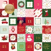 2X2 Journaling Cards Foiled Paper - Merry & Bright - Echo Park