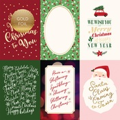 4X6 Journaling Cards Foiled Paper - Merry & Bright - Echo Park