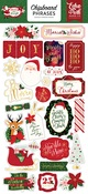 Merry & Bright Chipboard Phrases - Echo Park