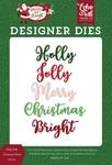 Holly Jolly Christmas Word Die Set - Echo Park