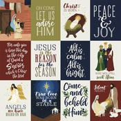 3X4 Journaling Cards Paper - Oh Holy Night - Echo Park
