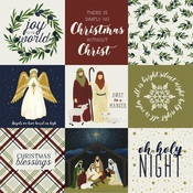 4X4 Journaling Cards Paper - Oh Holy Night - Echo Park
