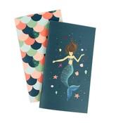 Weekly Calendar Mermaid Travelers Notebook Insert - Echo Park