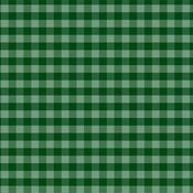 Dark Green Gingham Paper - Christmas Gingham - Echo Park