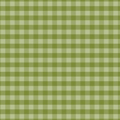 Olive Green Gingham Paper - Christmas Gingham - Echo Park
