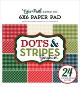 Christmas Gingham 6x6 Paper Pad - Echo Park