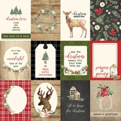 3X4 Journaling Cards Paper - Christmas - Carta Bella