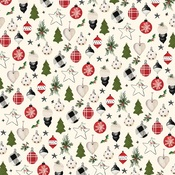Festive Ornaments Paper - Christmas - Carta Bella