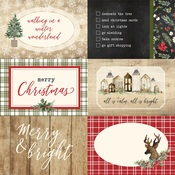 4X6 Journaling Cards Paper - Christmas - Carta Bella