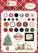 Christmas Decorative Brads - Carta Bella