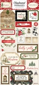 Christmas Chipboard Phrases - Carta Bella