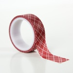 Red Plaid Decorative Tape - Carta Bella