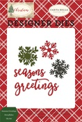 Seasons Greetings Snowflakes Die Set - Carta Bella