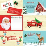 4x6 Journaling Cards Paper - Santas Workshop - Carta Bella