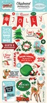 Santas Workshop Chipboard Phrases - Carta Bella