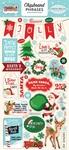Santas Workshop Chipboard Phrases - Carta Bella