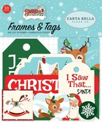 Santas Workshop Frames & Tags - Carta Bella - PRE ORDER