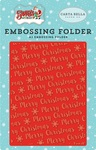 Merry Christmas Snowflake Embossing Folder - Carta Bella