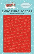 Merry Christmas Snowflake Embossing Folder - Carta Bella