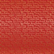 Gold Red Merry Christmas Words Foil Paper - Carta Bella
