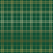 Gold Green Holiday Plaid Foil Paper - Carta Bella