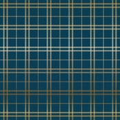 Gold Navy Holiday Plaid Foil Paper - Carta Bella