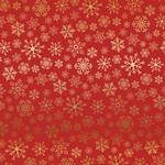 Gold Red Snowflake Flurry Foil Paper - Carta Bella