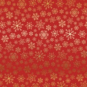 Gold Red Snowflake Flurry Foil Paper - Carta Bella