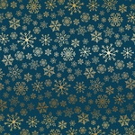 Gold Navy Snowflake Flurry Foil Paper - Carta Bella