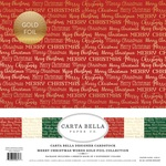 Merry Christmas Words Gold Foil Collection Kit - Carta Bella