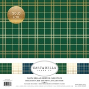 Holiday Plaid Gold Foil Collection Kit - Carta Bella