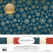 Snowflake Flurry Gold Foil Collection Kit - Carta Bella