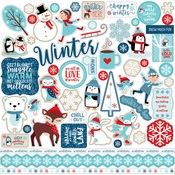 Celebrate Winter Element Sticker - Echo Park