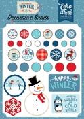 Celebrate Winter Decorative Brads - Echo Park