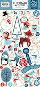 Celebrate Winter Chipboard Accents - Echo Park