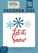 Let it Snow Snowflakes Die Set - Echo Park