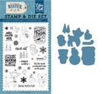 Happy Winter Die & Stamp Set - Echo Park