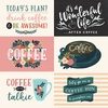 4X6 Horizontal Journaling Cards Paper - Coffee - Echo Park