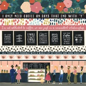 Border Strips Paper - Coffee - Echo Park