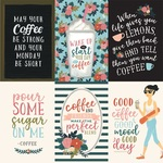 4X6 Vertical Journaling Cards Paper - Coffee - Echo Park