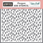 Coffee Dot Stencil - Echo Park