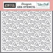 Coffee Flourish Stencil - Echo Park