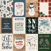 3X4 Journaling Cards Paper - Let It Snow - Carta Bella