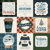 4X4 Journaling Cards Paper - Let It Snow - Carta Bella