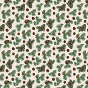 Pinecone Flurry Paper - Let It Snow - Carta Bella