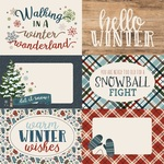 4X6 Journaling Cards Paper - Let It Snow - Carta Bella