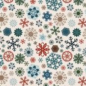 Glistening Snowflakes Paper - Let It Snow - Carta Bella
