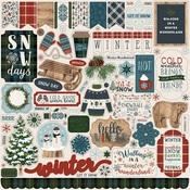 Let It Snow Sticker Sheet - Carta Bella