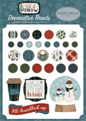 Let It Snow Decorative Brads - Carta Bella